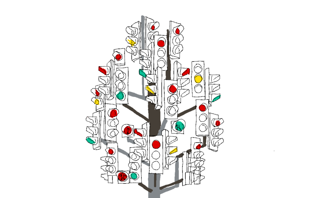 Verkehrsberuhigende Maßnahmen: Ampelbaum